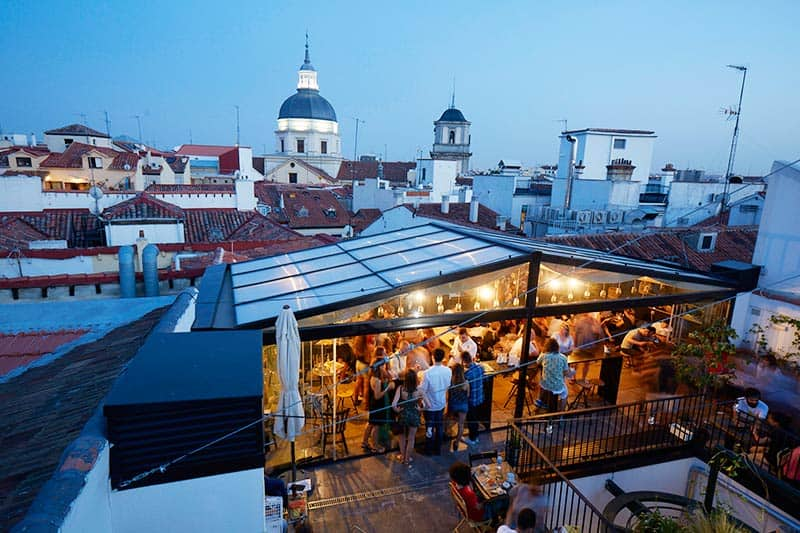 Cheers and Salut - this is where you will hang out at THE HATs Roof top terrace