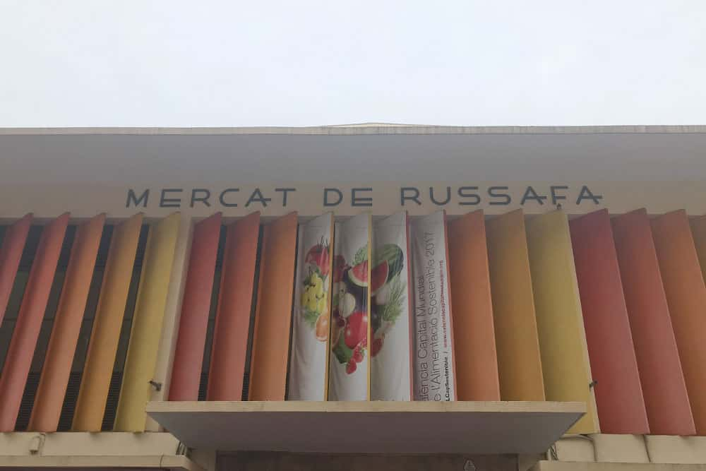 Local market in the hipster area in Valencia: Russafa Market