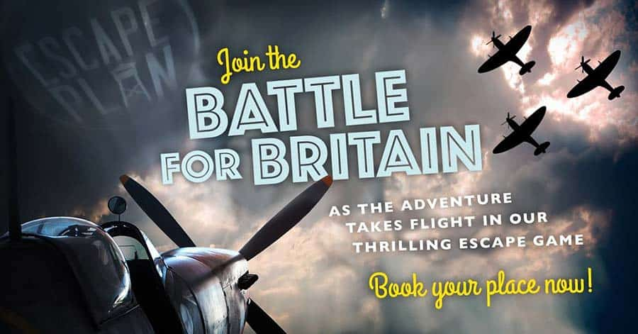 Coolest Escape Room in london: The Escape Plan with its story of the Battle of Britain
