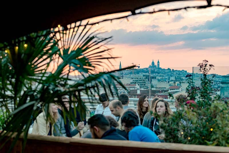 Coolest Roof Top Terrace in Paris; Get drinks with a view at Perchoir