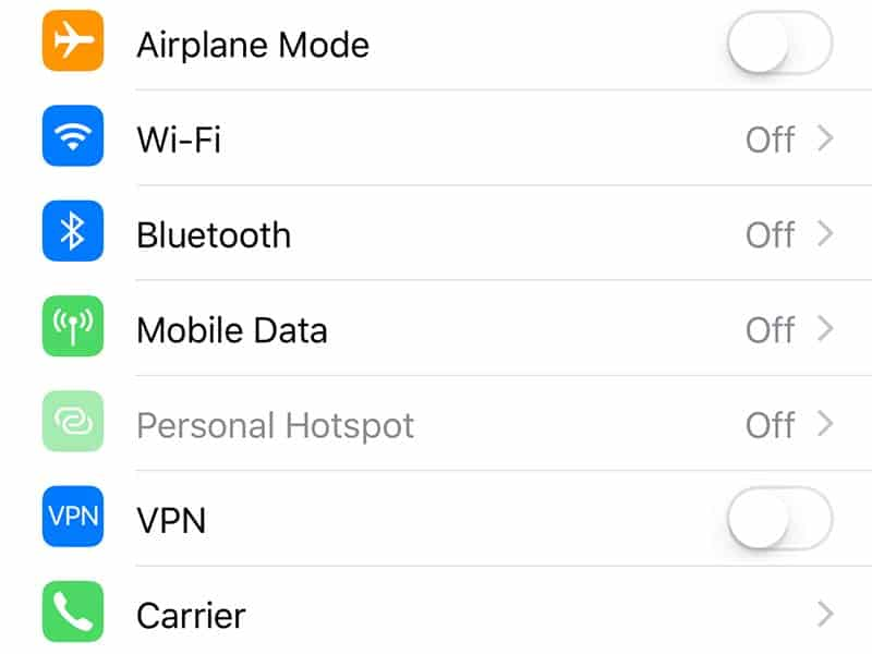 Turn off WiFi when traveling