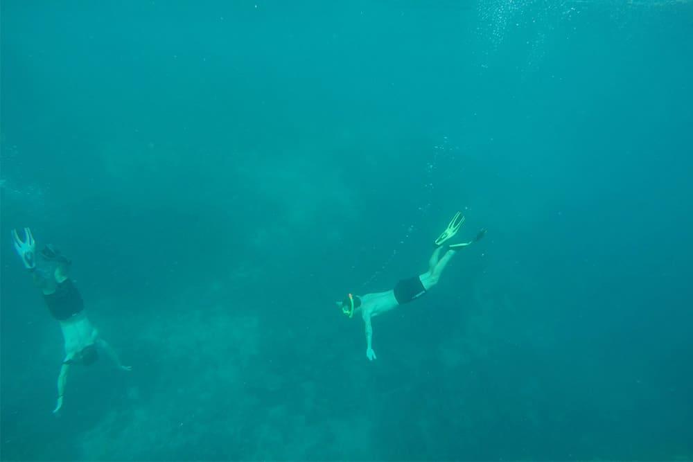 Matt and a friend Snorkeling at the Gili Trawangan, Lombok, Indonesia