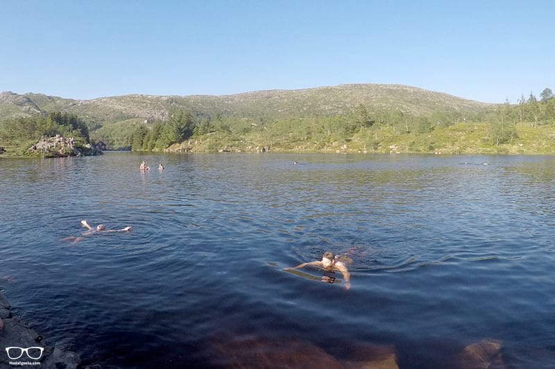 Swimming is one of the top things to do in Bergen, Norway