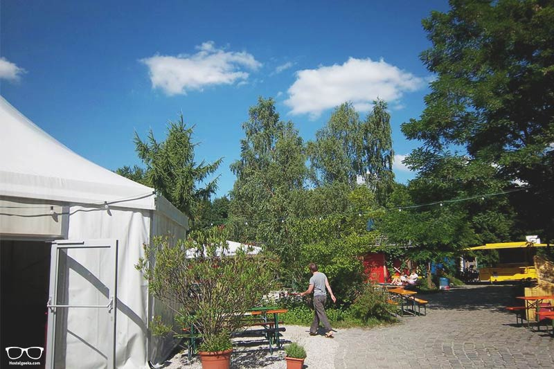 The Tent is a fun hostel in Munich, Germany