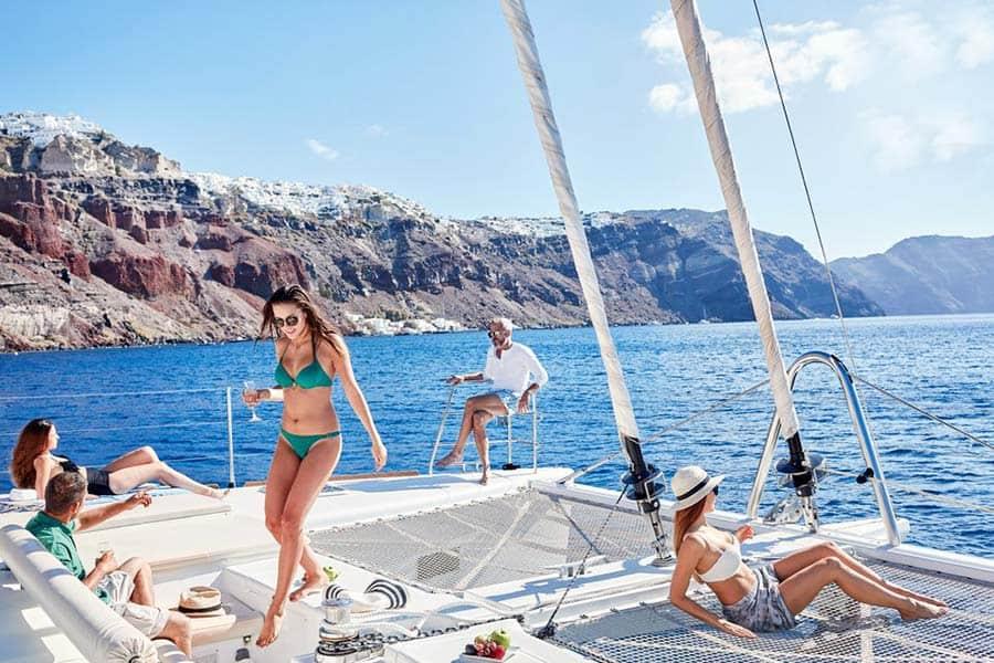 Exclusive Catamaran Tour in Santorini
