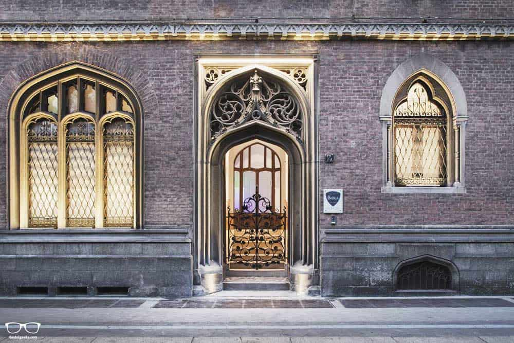 Impressive building Babila hostel, one of the best hostels in Milan for solo travelers