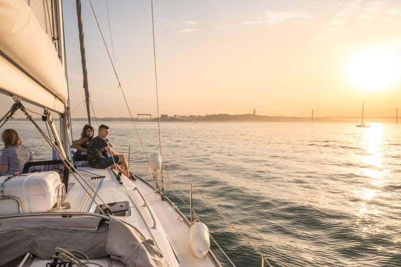 Hop on a Sunset Cruise - one of the Romantic Things to do in Lisbon