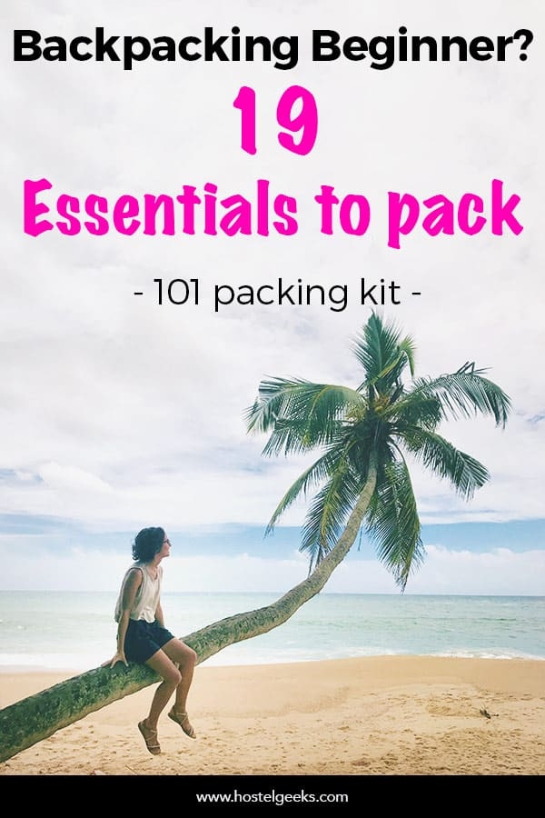 Backpacking Kit for solo female travelers starters - No Borders Bundle