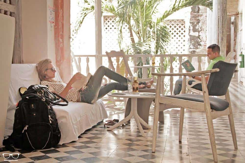 Cozy vibes at Be Lounge, one of the best hostels in Cartagena, Colombia