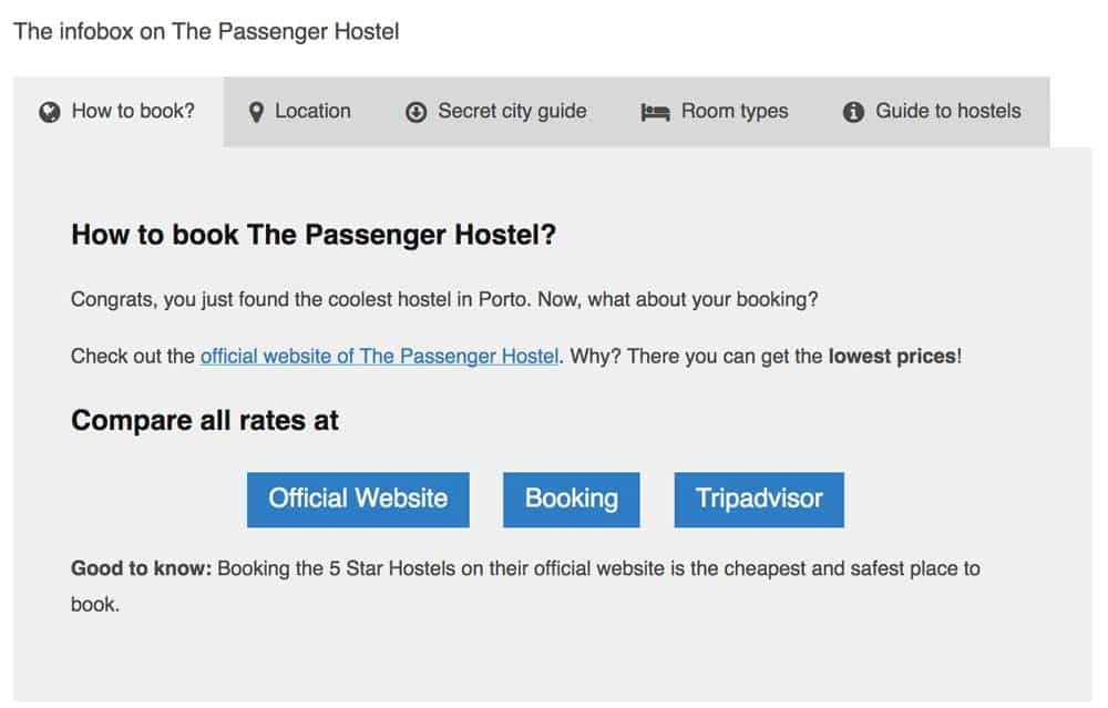 Cheapest Hostel Bookin sites: The official website of 5 Star Hostels is your cheapest place to book