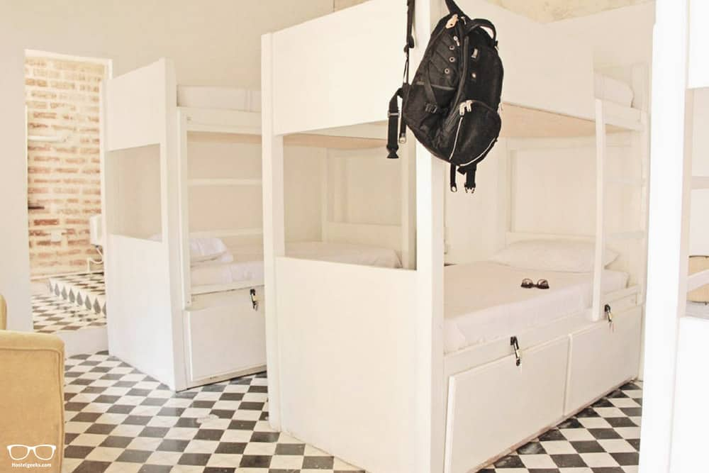 Dorm at the best hostel in Cartagena for solo female travellers, Be Lounge