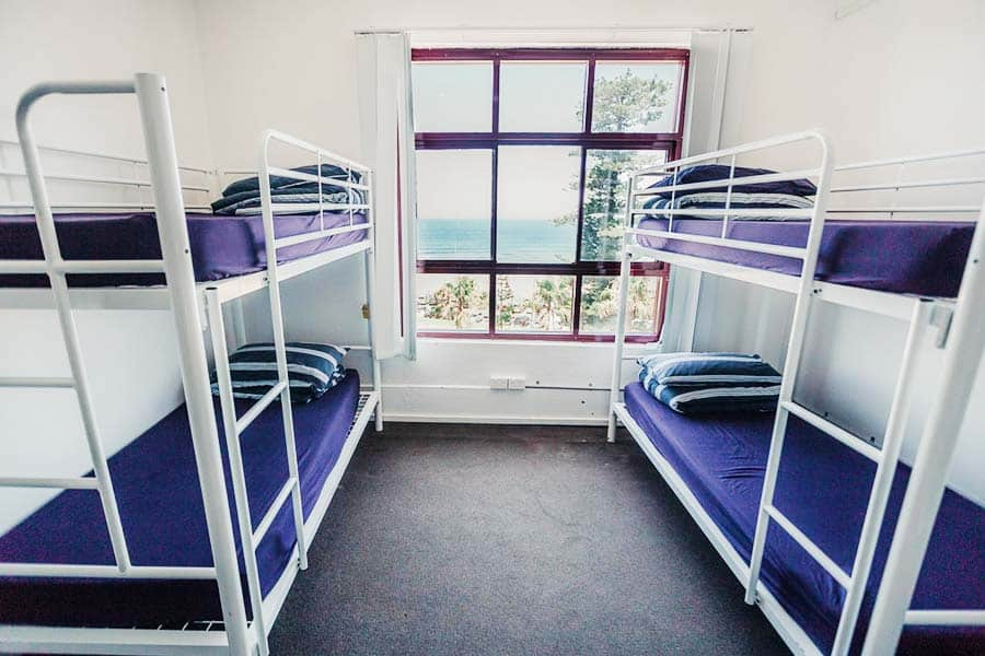 Dorms at the Bondi Backpackers
