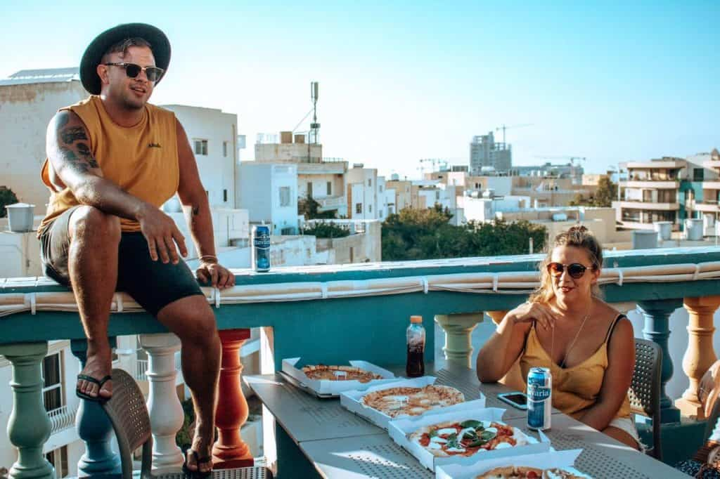 What do we explore tomorrow? The Roof top terrace at Hostel Malti is the perfect spot to plan backpacking Malta