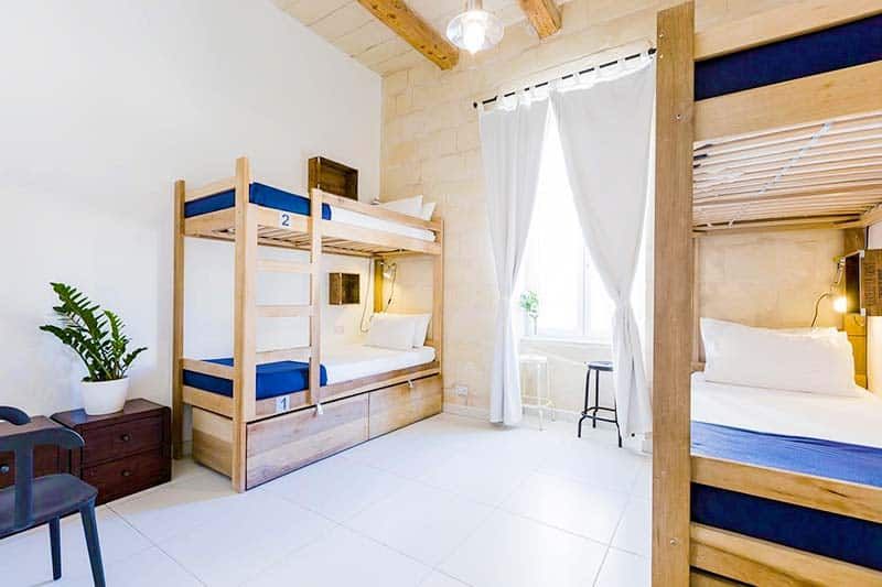 The Luxury Dorms at Two Pillow Hostel in Malta