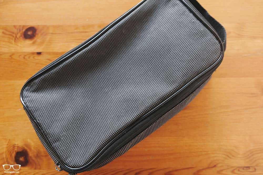 Essentials for traveling: toiletry bag