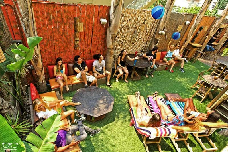 Banana Bungalow one of the best party hostels in Los Angeles, USA