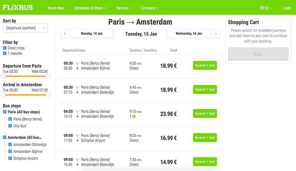 Taking a Bus around Europe (cheap option!)