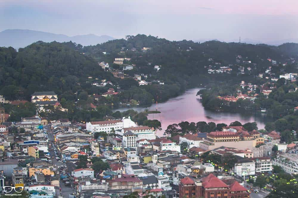 Incredible colours over kandy lake