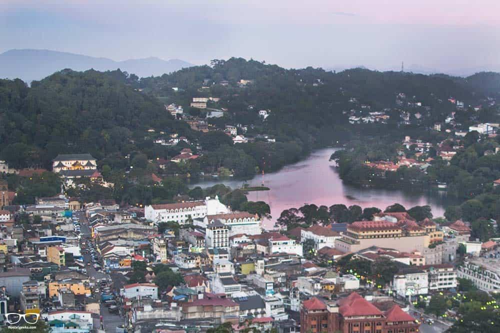 Incredible colours over kandy lake