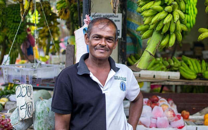 Local Vendor at the market in Kandy, Sri Lanka
