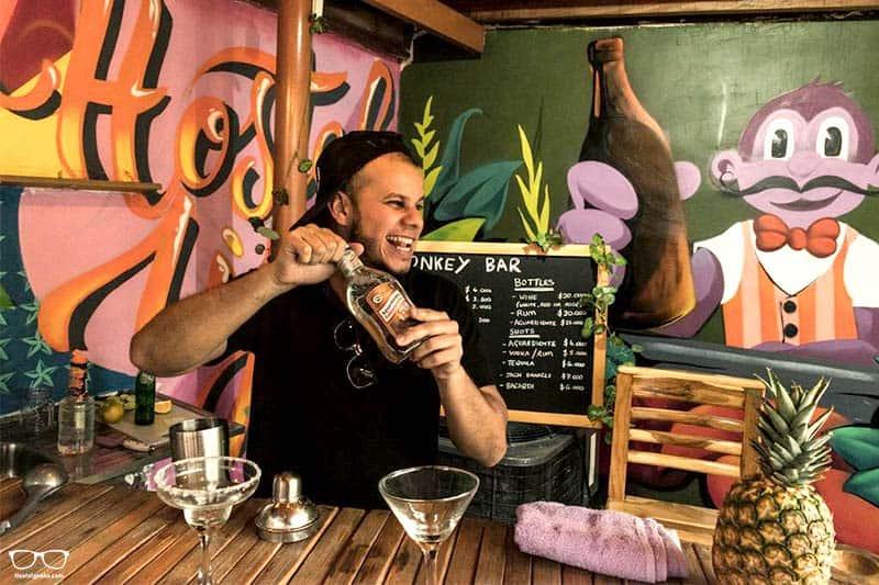 Purple Monkey Hostel one of the best party hostels in Medellin, Colombia