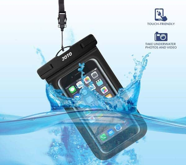 waterproof phone case; a good idea, especially when traveling a lot outdoors