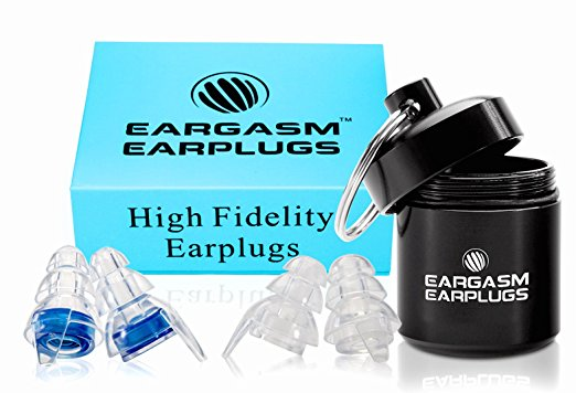 ear plugs from Eargasm; perfect for your hostel packing list