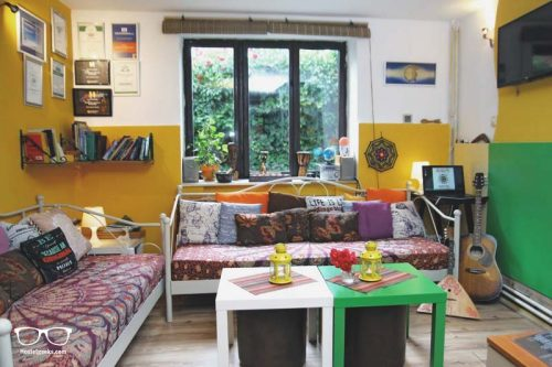 Lounge at Shanti Hostel in Skopje