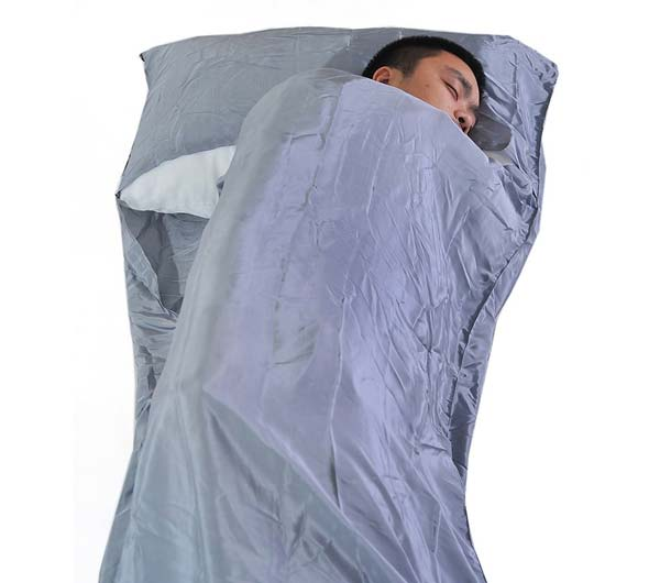 A Silk Sleeping Bag is light and small to pack