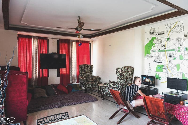 The Madpackers Hostel one of the best hostels in Delhi, India