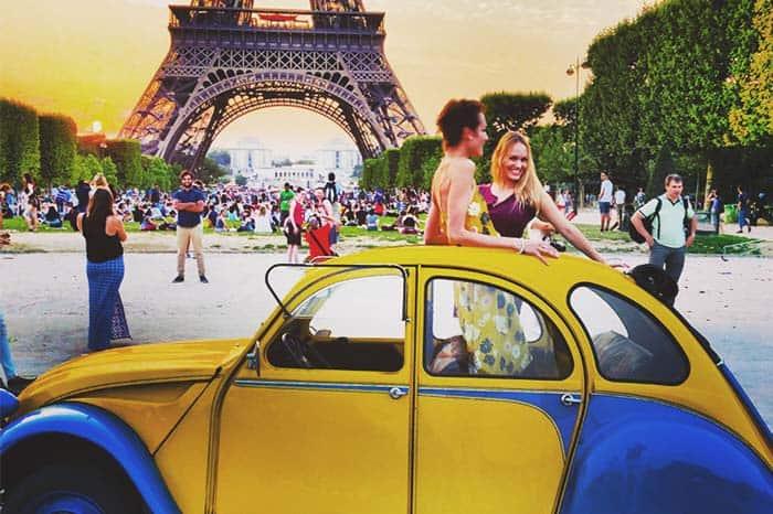 Vintage Car Tour in Paris, France