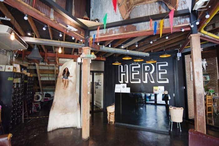 Best Hostels in Bangkok? The HERE Hostel and its hostel slide has to be on it