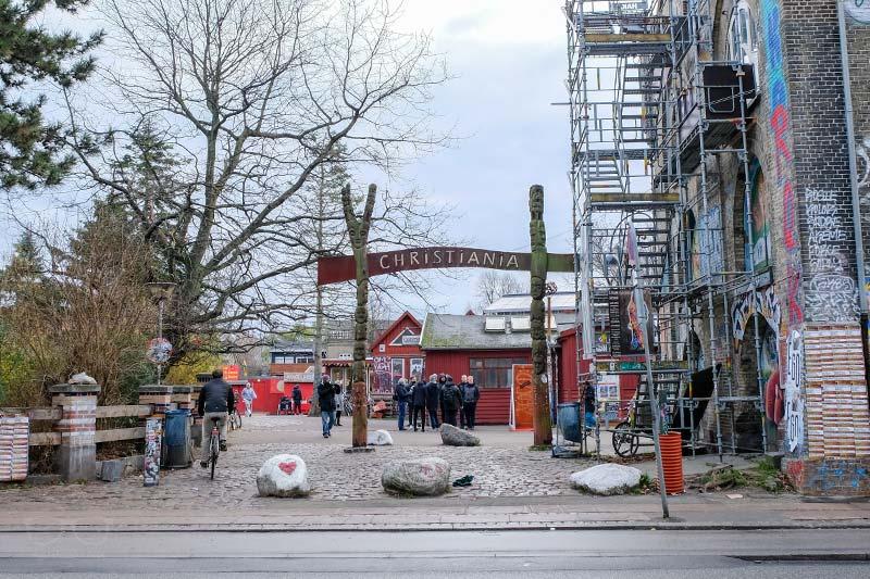 Entrance of Freetown Christiana in Copenhagen