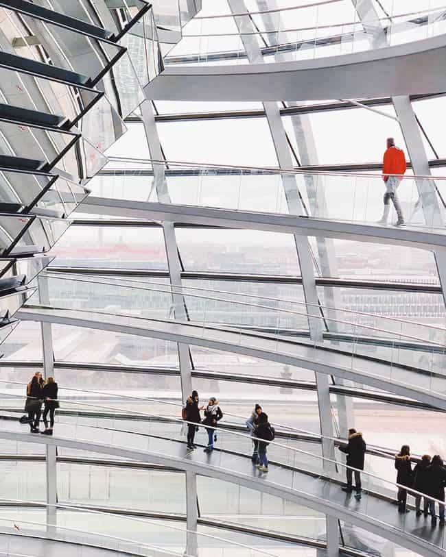 Visti German Reichstag in Berlin; one of the coolest things to do for sure