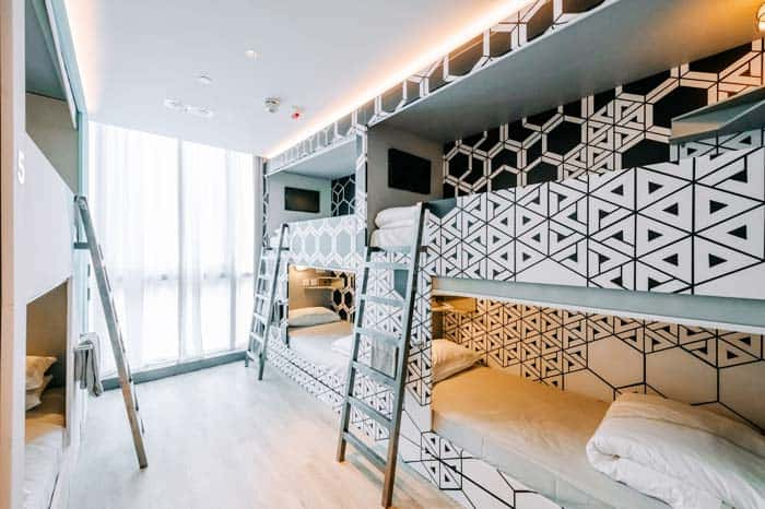 Stylish Luxury Hostel dorms at Mojo Nomad Central in Hong Kong