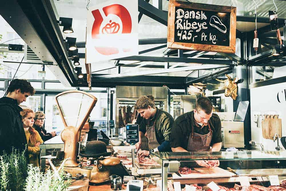 Explore a local food market in Copenhagen