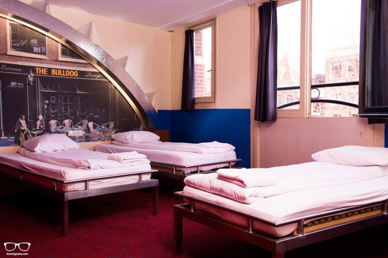 The Bulldog Hotel one of the best hostels in Amsterdam for partying