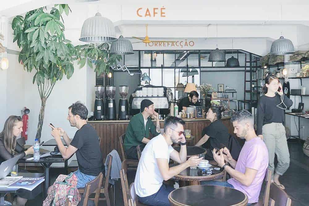 Combi café, hipster coffee in Porto, Portugal