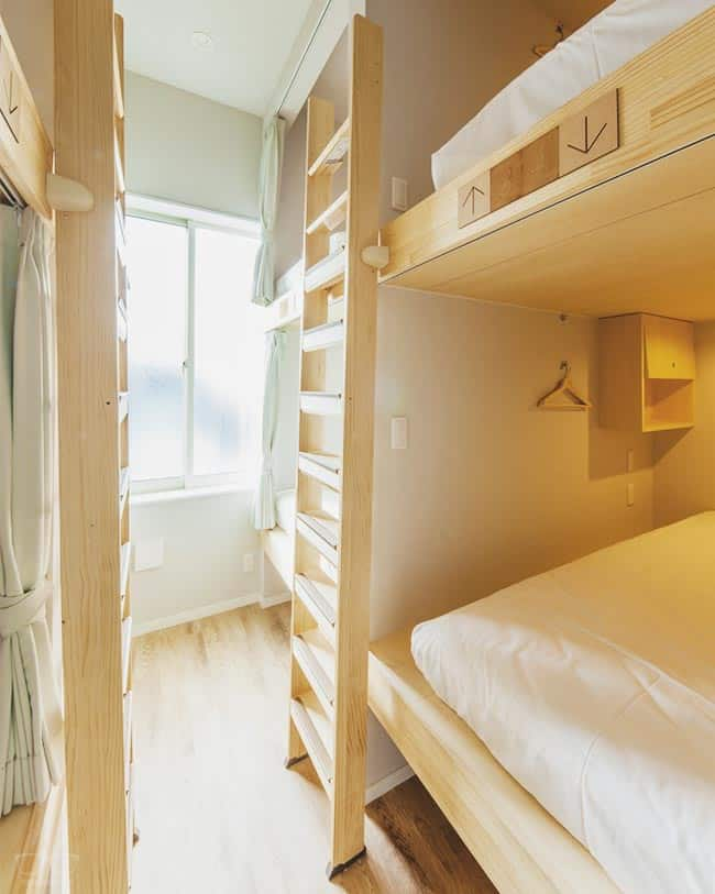 Dorm at Cup Of Tea Hostel in Hida Takayama, Japan; one of the best hostels in Japan