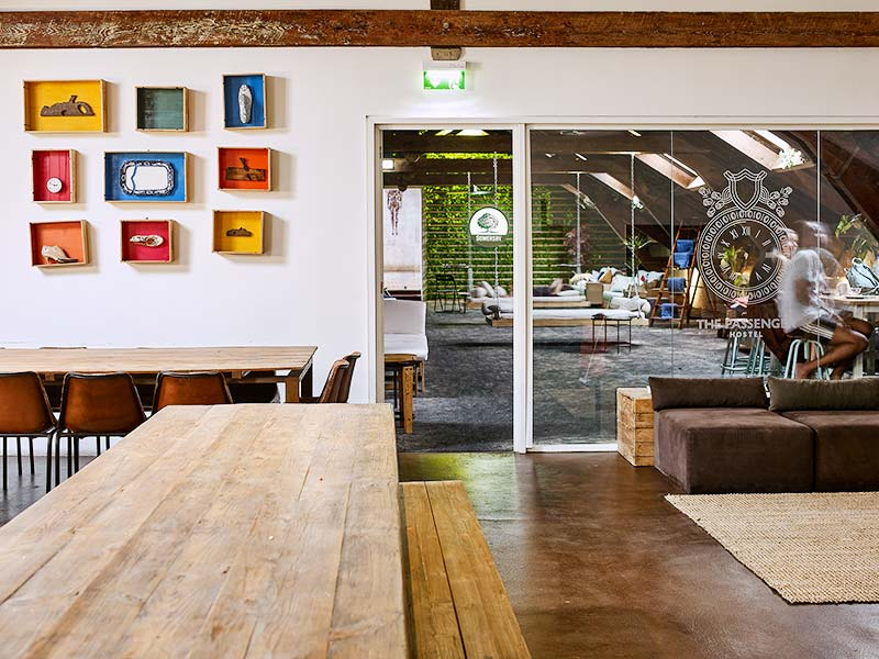 Best Hostels in Porto, Underroof Bar at The Passenger Hostel