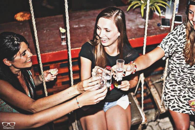 Lucky Traveler Hostel All Inclusive one of the best party hostels in Tulum, Mexico