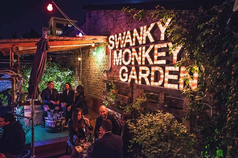 Swanky Monkey Garden in Zagreb, ready for a drink?
