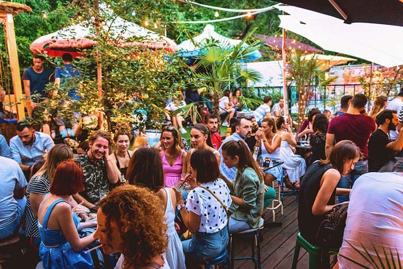 Summer Things to do in Zagreb? Have a great time at the Swanky Monkey Garden at Swanky Mint Hostel