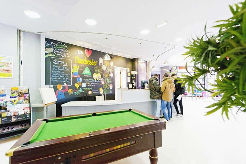 Fancy a billiard pool? YHA is a cool place to stay in MAnchester for young people