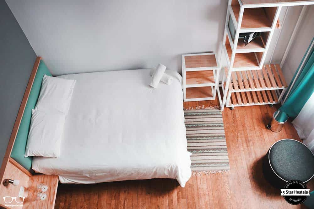 Choose betwen dorms or private rooms at the boutique hotel Casa Pepe in Mexico