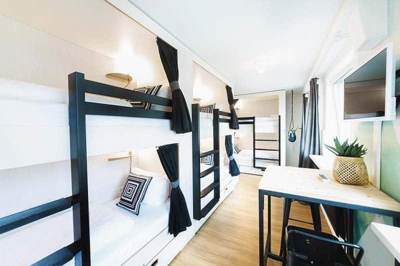 Super cool dorms at Pyjama Hostel Schanzenviertel