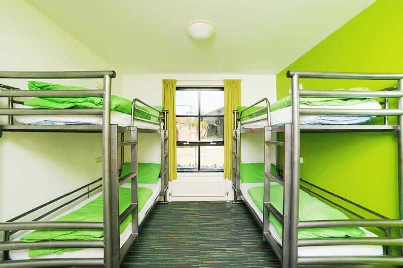 Simple dorms at YHA Hostel Manchester