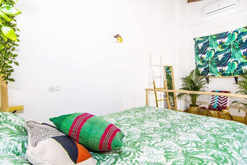 One of the double rooms at Urban Jungle Hostel, perfect for solo-travellers and couples