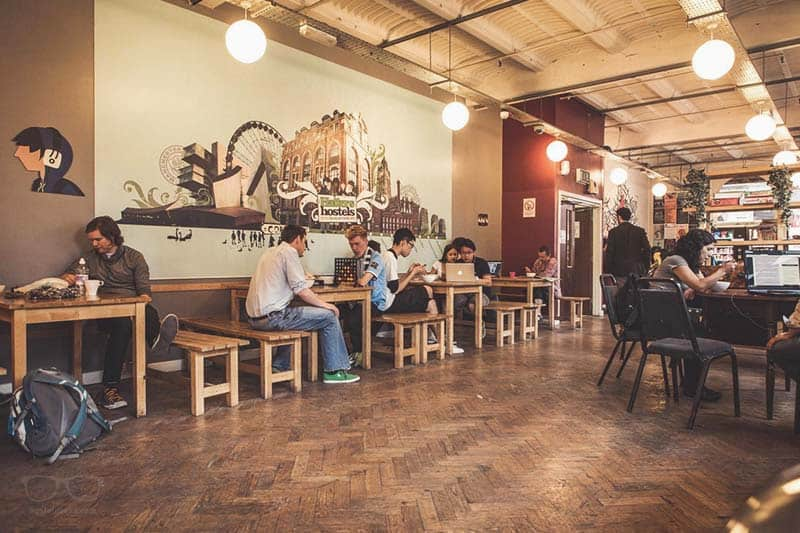 Hatters on Newton Street comes with a bar; one of the coolest party hostels in Manchester