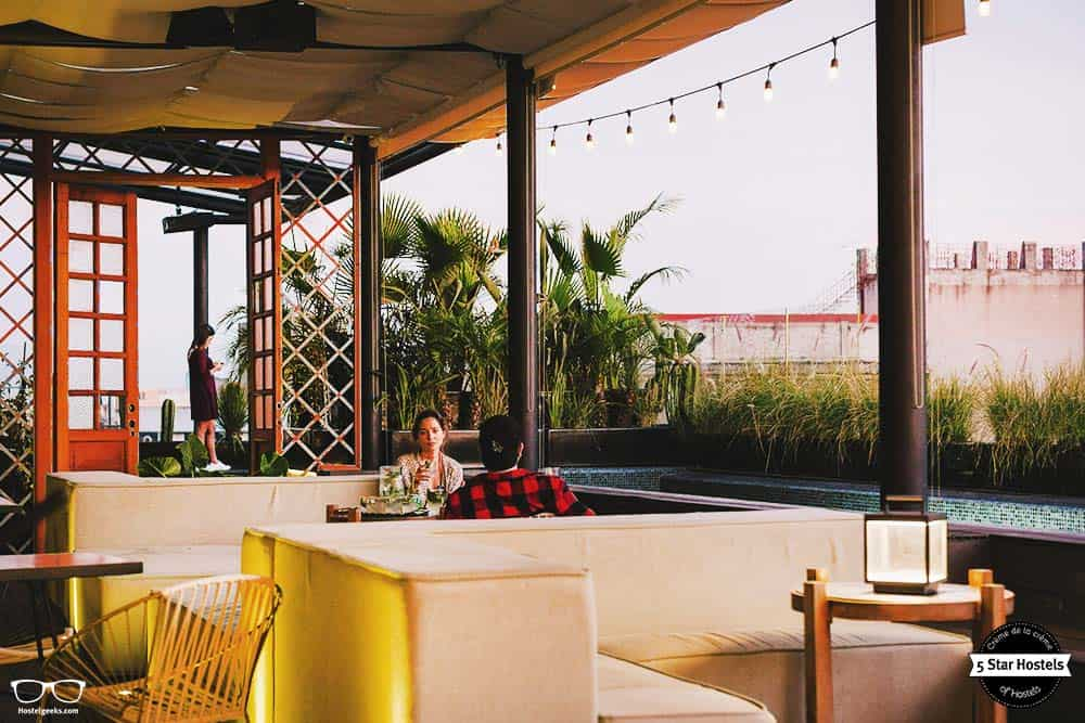 Relax at the rooftop at Casa Pepe, a design boutique hostel in Mexico